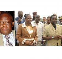 M. Godefroid Mayobo Mwene Gantien, Mme Laure-Marie Kawanda Kayena et le Président de la République.